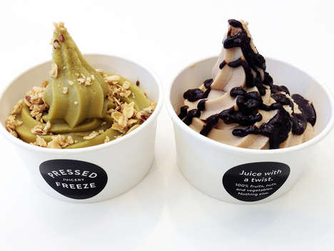 Vegan Soft-Serve Ice Cream - Pressed Juicery Offers Extremely Healthy Frozen Desserts