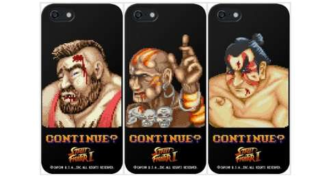 Pixelated Fighter Cases - These Street Fighter II Cases Showcase the Video Game