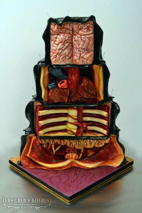 Dissected Anatomy Desserts - This Gruesome Cake Shows the Boney Inside of a Real Human Body