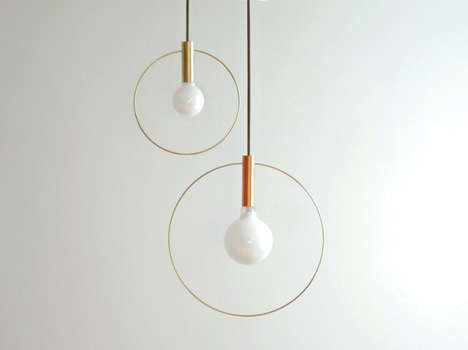 Minimalist Orb Illuminators - The Aura Lights by Ladies and Gentlemen Studio Boast a Modern Design