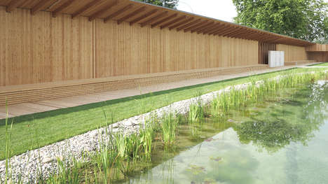 Pond-Like Public Baths - The Naturbad Riehen in Switzerland Has a Natural Look