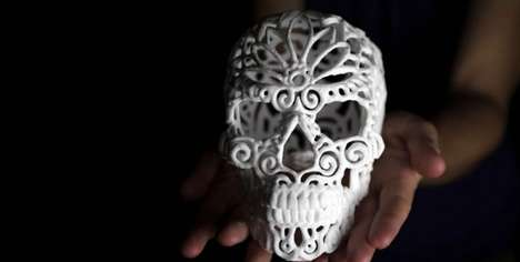 Skeletal Sugar Cubes - The Sugar Lab Has Created 3D-Printed Skulls To Sweeten Your Coffee
