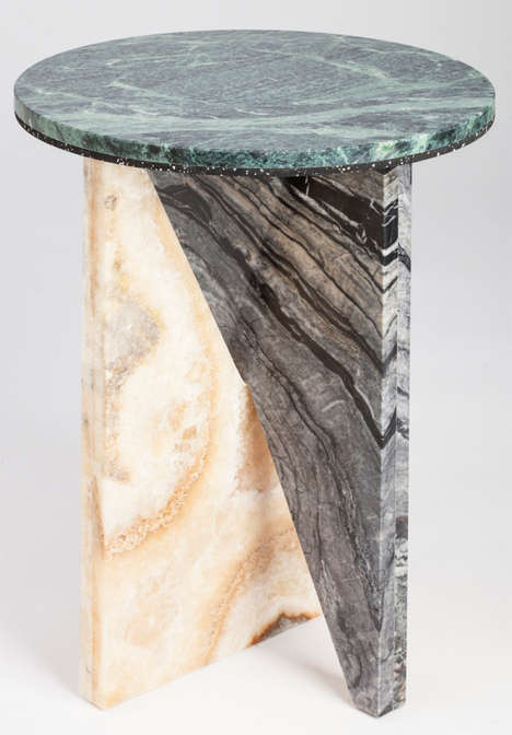 Layered Stone Furnishings - Jonathan Zawada AFFORDANCES #1 Series is Sculpturally Ornate
