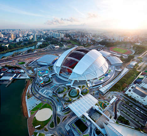 Integrated Sports Stadiums - The Singapore Sports Hub Offers a Variety of Amenities