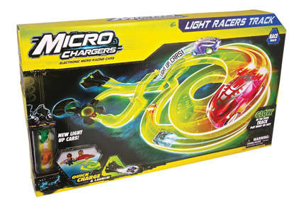 Illuminated Racing Toys - The Micro Chargers Light Racers Track is an Illuminated Adventure