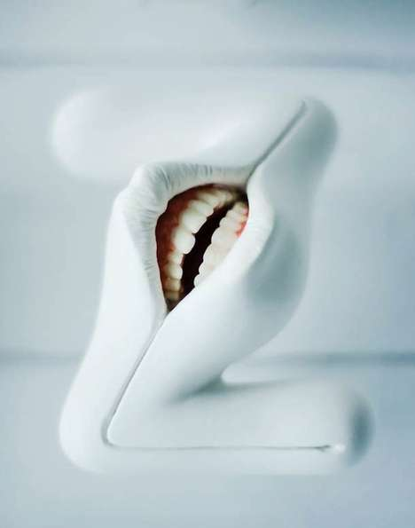 Abnormal Oral Alphabets - Takayuki Ogawa Created A Typeface Out of Realistic Looking Mouths