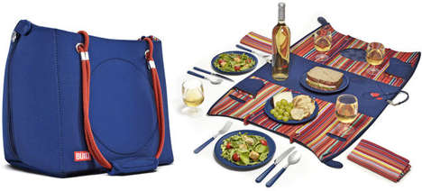 Convertible Picnic Bags - This Stylish Bag From BuiltNY Includes All Your Picnicking Products