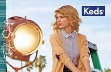 Preppy Footwear Ads - The Taylor Swift Keds Campaign is Colorful and Youthful