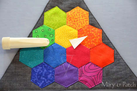 Rainbow Hexegon Quilts - These Technicolor Quilt Patterns are Made with Hexagons Rather than Squares