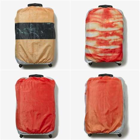 Savory Suitcase Protectors - The Traveling Sushi Bag Cover is Easily Identifiable on Luggage Belts