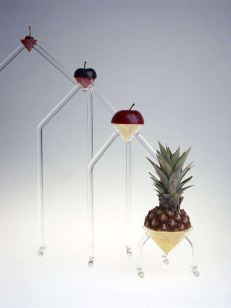 Fruit-Displaying Glass Sculptures - Top Cherry by Giorgia Zanellato Focuses on Contrasting Textures
