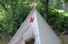 Monogrammed Playhouse Tents - Etsy's Tip Top Teepee Shop Creates Personalized Designs for Kids