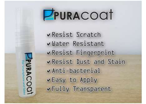Screen-Protecting Liquids - The Puracoat is a Phone Protector Currently Fundraising Via Indiegogo