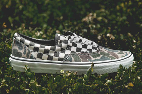 Checkered Camo Sneakers - These VANS Doren Era Canvas Shoes Come with a Hybrid Print