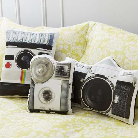Retro Camera Pillows - These Unique Pillow Designs are Perfect for Photographers