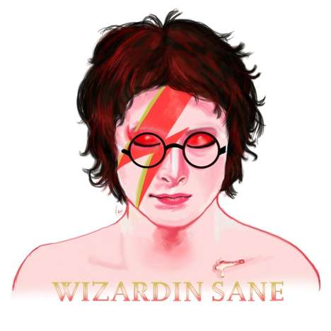 Popstar Wizard Portraits - Harry Potter Collides with Singer David Bowie in this Mash-Up Graphic
