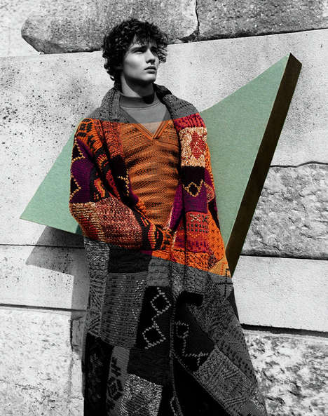 Modernist Knitwear Advertorials - The Missoni Fall/Winter 2014 Campaign is Artfully Themed