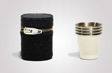Designer Shot Glasses - The Stacking Alexander Wang Shot Glasses Come with a Neat Storage Case
