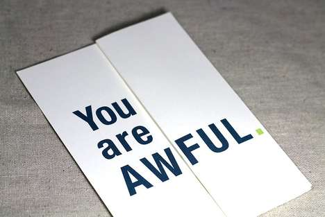 Deceptively Offensive Cards - Heather Abbott Cleverly Disguises Loving Heartfelt Messages