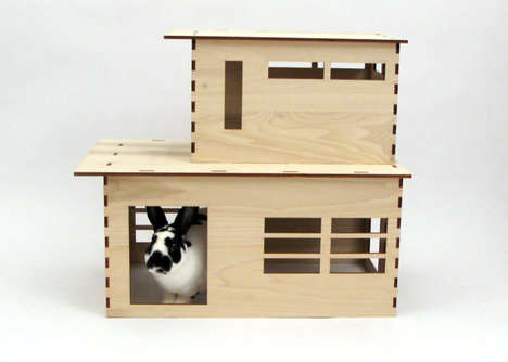 Modernist Rabbit Residences - Etsy