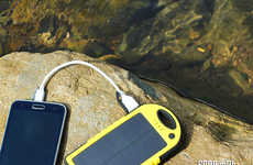 Rainproof Solar Chargers - The 5000mAH Solar Panel Charger is Impervious to Rainfall