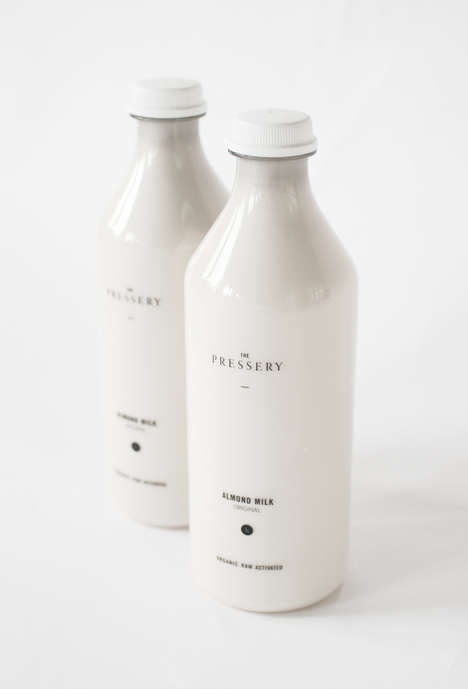 Minimalist Milk Branding - Simple Branding Identities Like The Pressery Always Stand Out the Most