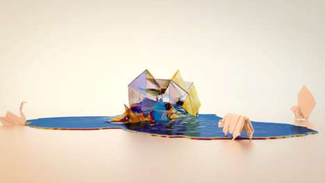 Animated Origami Films - Dream Life of Paper by 1984 London Touches on Journeys and Innocence