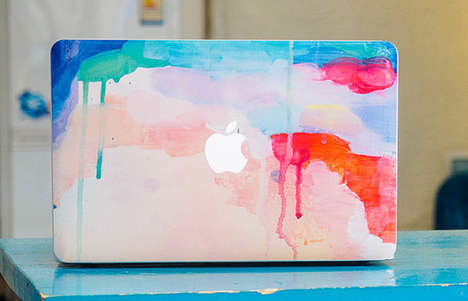 Painterly Laptop Decals - Etsy