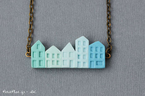 Charming Cityscape Accessories - Etsy's Mini City Skyline Necklace is Created by Petit Plat Shop