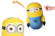 Laughing Minion Punching Bags - The Musical Despicable Me 2 Bop Bags are Shaped Like the Minions