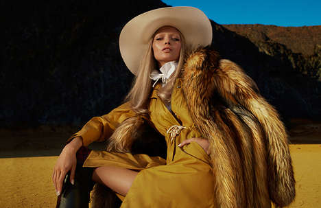 Luxe Cowgirl Editorials - The Numero August 2014 Photoshoot Stars Hana Jirickova