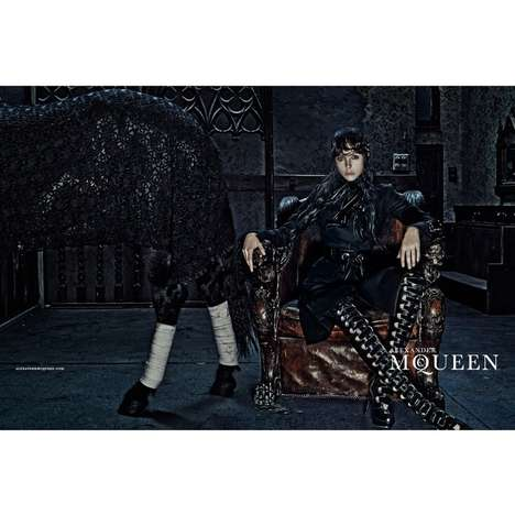 Victorian Fashion Ads - Edie Campbell Stars in the Alexander McQueen Fall 2014 Campaign