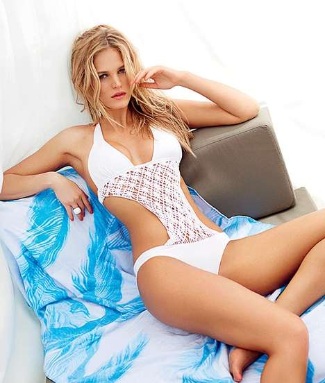 Body-Hugging Bikini Editorials - Erin Heatherton Stars in the Ocean Drive Magazine Cover Story