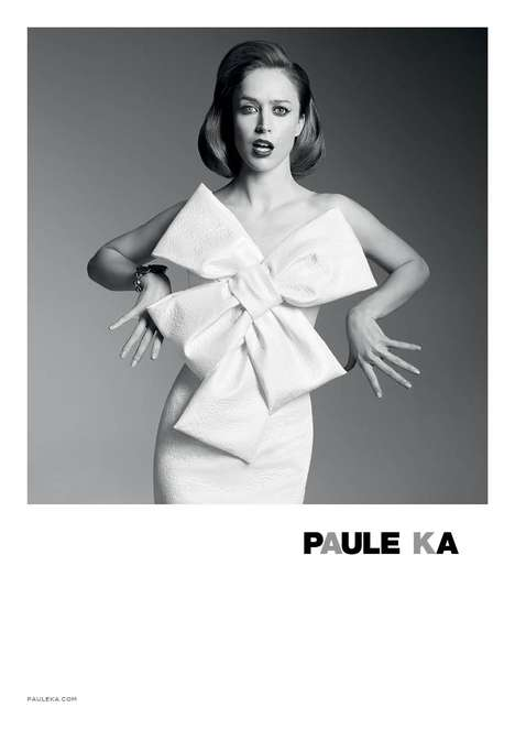 Feminine Monochrome Fashion - Raquel Zimmermann Stars in the New Paule Ka Fall/Winter Campaign
