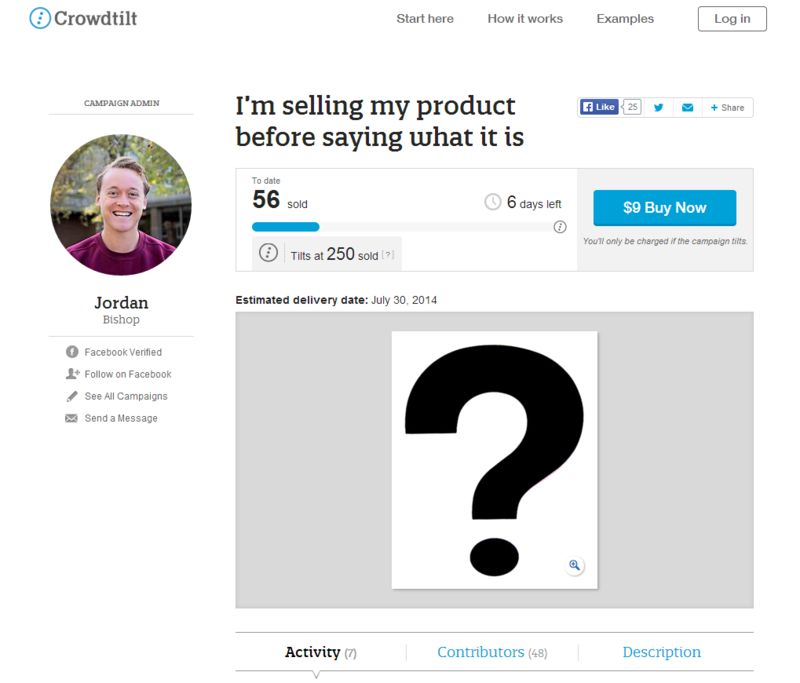 Mysterious Crowdfunding Campaigns