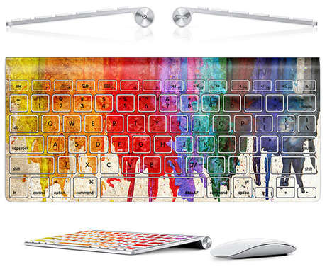 Dripping Paint Tech Decor - This Colorful Macbook Keyboard Decal is Fit For Apple