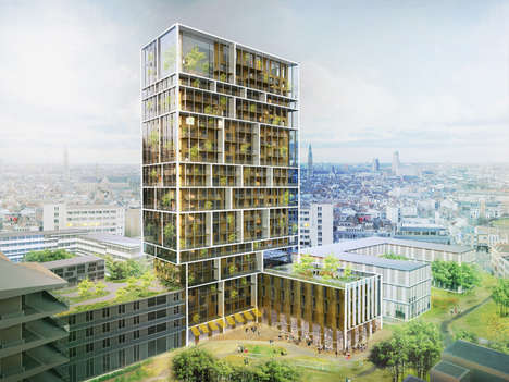 Mixed-Use Residential Towers - Brut Architecture and C.F. Moller are in Charge of This Antwerp Tower