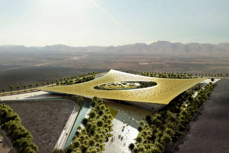 Spiritual Oasis Architecture - Rafael de La-Hoz Enters the Noble Quran Oasis Competition