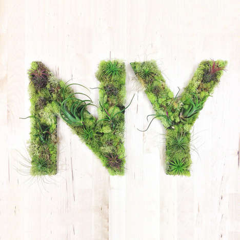 Typographic Plant Art - These Wall Garden Planters Spell Out Alphabetic Letters and Numbers