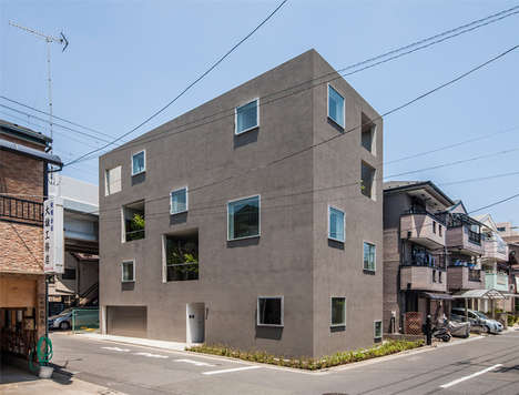 Greenery-Infused Urban Abodes - The House K in Tokyo Makes the Most of a Busy Area