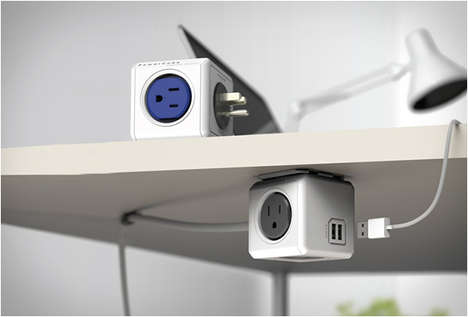 Versatile Outlet Mounts - The PowerCube Power Outlet Can be Attached Anywhere as a Source of Energy