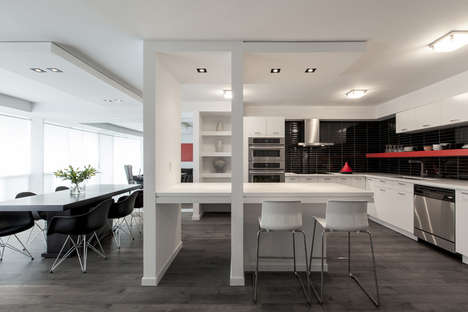 Sectioned Condo Dwellings - The Elav Nest Apartment by RZLBD Features a Divided Open-Concept