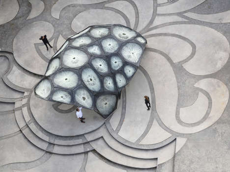 Bulbous Beetle Pavilions - The Robot-Built Pavilion Has Been Modeled After Flying Beetles