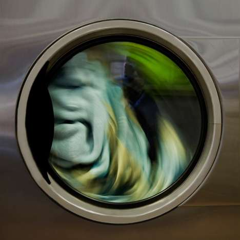Abstract Laundromat Portraits - This Tumbling Clothes Photography Series is Surprisingly Mesmerizing
