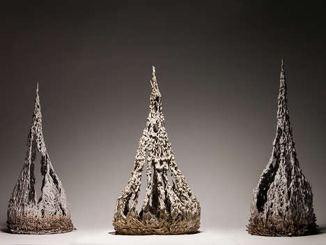 Abstract Clay Sculptures - Jolan Van der Wiel Uses Magnets to Mold the Iron-Riddled Material