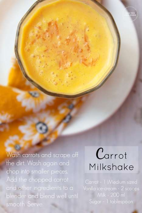 Tantalizing Carrot Milkshakes - This Unique Milkshake Flavor is Filled with Vanilla and