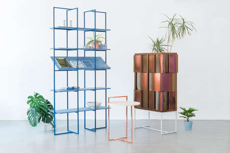 Contemporary Contrasting Furniture - Akin Collection by Anny Wang is Full of Texture and Color