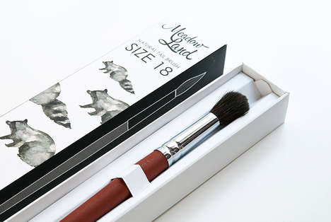 Nature-Inspired Brush Branding - Meadow Land Exudes a Naturalistic Aesthetic