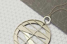 Geometric Metal Jewelry - The Collection by Dowse for the Design Museum Pays Tribute to Louis Kahn