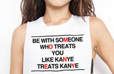 Romantic Rapper Tanks - The Kanye Muscle Tank Expects More of Your Significant Other